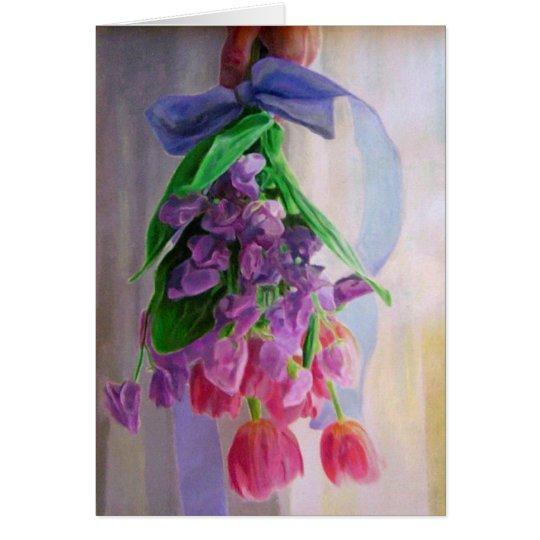 Luna Lawrence's Bridal Bouquet Card