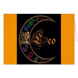 Luna Leo de Celestrial Tarjeta De Felicitación