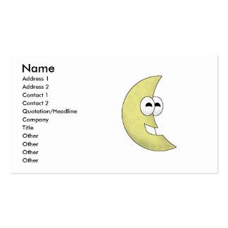 Luna linda del creciente del dibujo animado tarjeta de visita