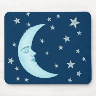 Luna linda Mousepads el dormir Tapetes De Ratones