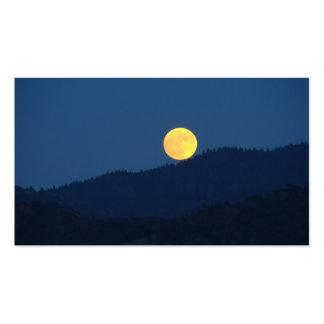 Luna Llena anaranjada de las tarjetas de visita de
