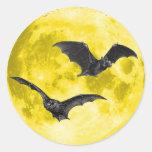 Luna Llena con los palos [sellos/pegatinas del Pegatina Redonda