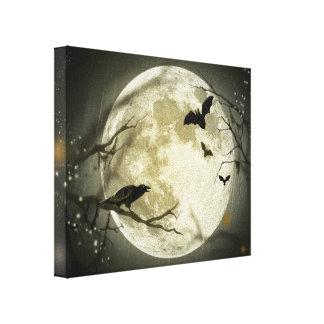 Luna Llena con los palos y el cuervo Impresion En Lona