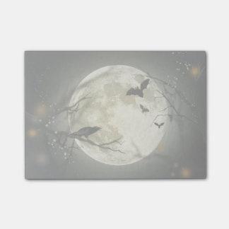 Luna Llena con los palos y el cuervo Post-it® Notas