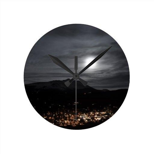 Luna Llena de breckenridge Reloj De Pared