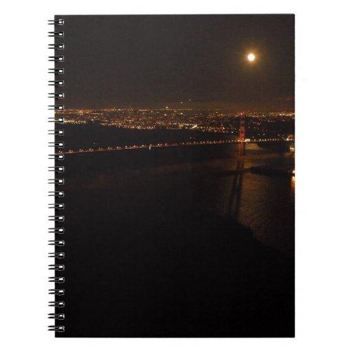 Luna Llena de Briddge del Golden Gate Libros De Apuntes