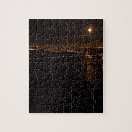 Luna Llena de Briddge del Golden Gate Puzzle