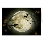 Luna Llena de Halloween Tarjeta De Felicitación