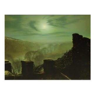 Luna Llena de Juan Grimshaw- detrás de la nube de  Tarjetas Postales