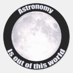 Luna Llena de la astronomía Etiquetas Redondas