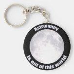Luna Llena de la astronomía Llaveros