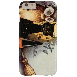 Luna Llena de la escoba de bruja del gato negro Funda De iPhone 6 Plus Barely There
