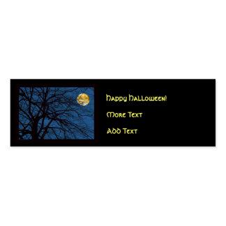 Luna Llena de las ramas de árbol Tarjetas De Visita Mini
