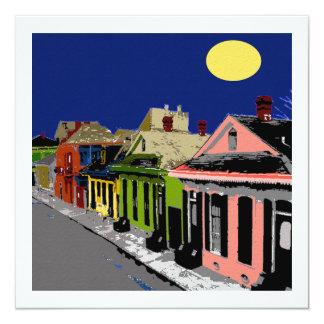 """Luna Llena de New Orleans de la cabaña criolla Invitación 5.25"""" X 5.25"""""""