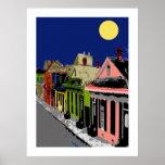 Luna Llena de New Orleans de la cabaña criolla Poster