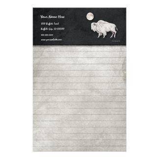 Luna Llena del búfalo blanco Papeleria De Diseño