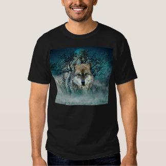 Luna Llena del lobo en niebla Camisas