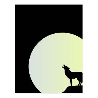 Luna Llena del lobo Postales