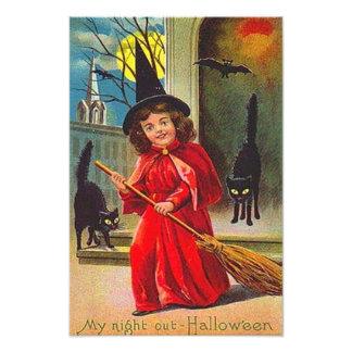 Luna Llena del palo del gato negro de la bruja Cojinete