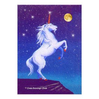 Luna Llena del unicornio Anuncio Personalizado