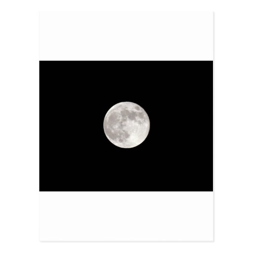 Luna Llena durante noche del cielo del negro oscur Tarjeta Postal
