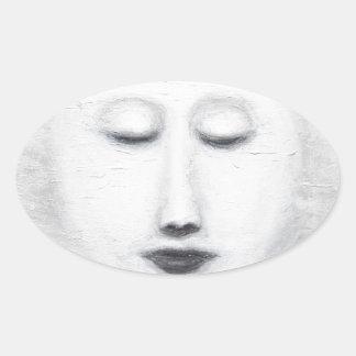 Luna Llena el dormir de Diana (realismo Calcomanía De Óval