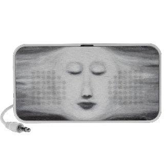 Luna Llena el dormir de Diana (realismo surrealist Laptop Altavoz