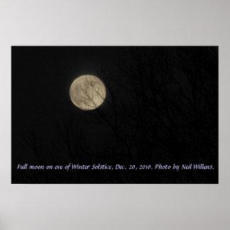 Luna Llena el la víspera del poster del solsticio