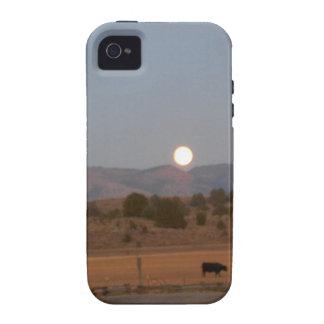 Luna Llena en el crepúsculo iPhone 4 Fundas