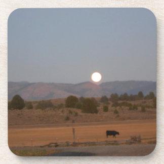 Luna Llena en el crepúsculo Posavasos