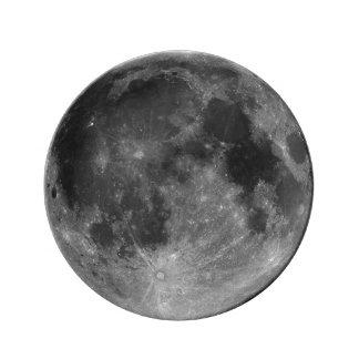 Luna Llena en HD Platos De Cerámica