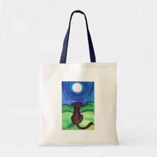 Luna Llena - gato negro Bolsa Tela Barata