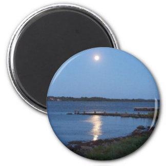 Luna llena imán redondo 5 cm