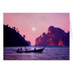 Luna Llena - mar de Tailandia Felicitación