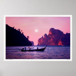 Luna Llena - mar de Tailandia Posters