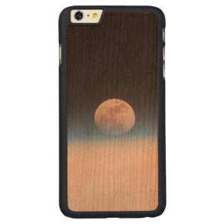 Luna Llena obscurecida parcialmente por la Funda De Cerezo Carved® Para iPhone 6 Plus Slim