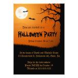 Luna Llena, palos y naranja espeluznante Halloween