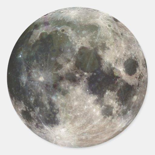 Luna Llena Pegatina