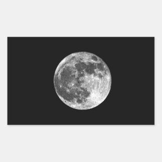 Luna Llena Pegatina Rectangular