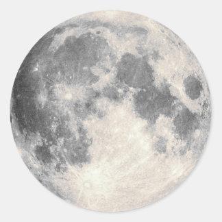 Luna Llena Pegatina Redonda