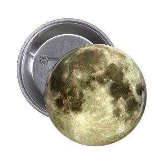 Luna Llena Pin Redondo De 2 Pulgadas