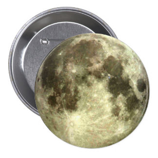 Luna Llena Pin Redondo De 3 Pulgadas