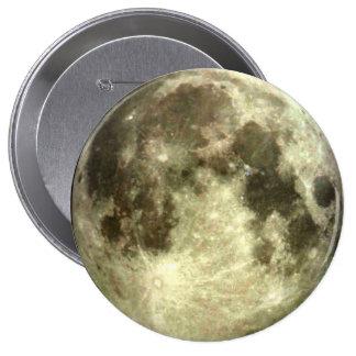 Luna Llena Pin Redondo De 4 Pulgadas