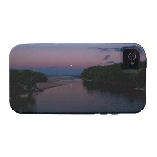 Luna Llena que sube sobre la playa de Wattamolla e iPhone 4/4S Carcasa