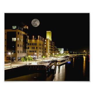 Luna Llena sobre el Green Bay Fotografía