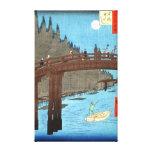 Luna Llena sobre el puente 1857 de Kyo Lona Envuelta Para Galerias