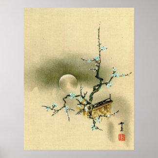 Luna Llena sobre la rama floreciente 1895 Posters