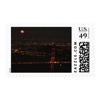 Luna Llena sobre San Francisco Franqueo