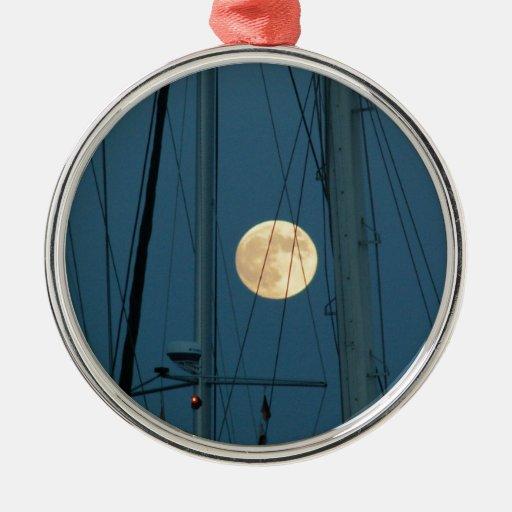 Luna Llena sobre un puerto deportivo Ornamento Para Reyes Magos