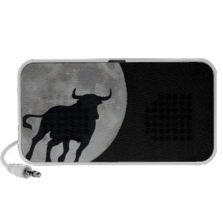 Luna Llena - Toro Bravo Corriendo - M1 Notebook Altavoz
